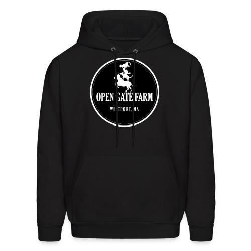 Open Gate Farm • The Black Logo - Men's Hoodie