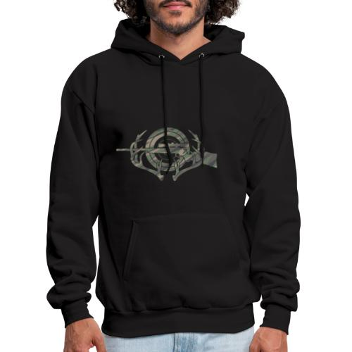 Camouflage Hunting and Shooting Sports Logo - Men's Hoodie