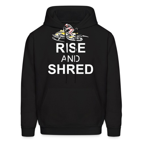 RISE AND SHRED NOB png - Men's Hoodie