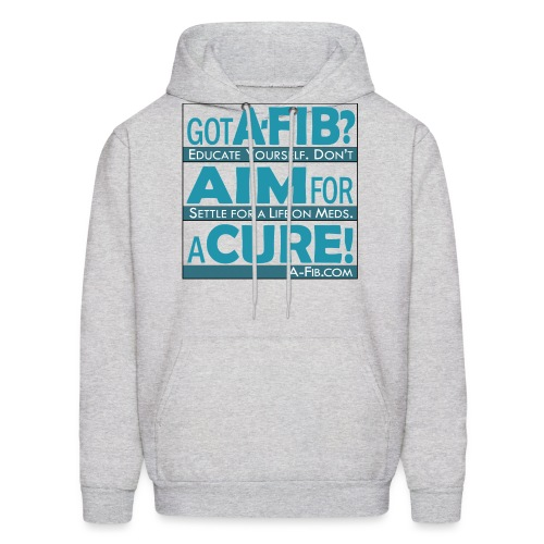aim for a cure don t settle blue - Men's Hoodie