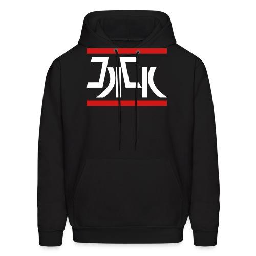 Jack Red White Logo - Men's Hoodie