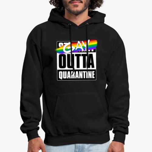Gay Outta Quarantine - LGBTQ Pride - Men's Hoodie
