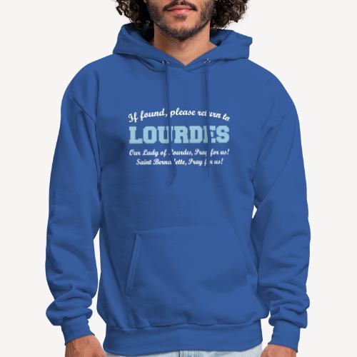 IF FOUND RETURN TO LOURDES - Men's Hoodie