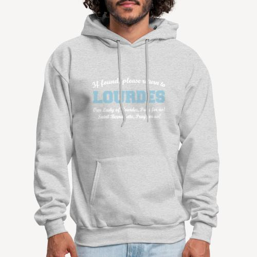 IF FOUND RETURN TO LOURDES - Men's Hoodie