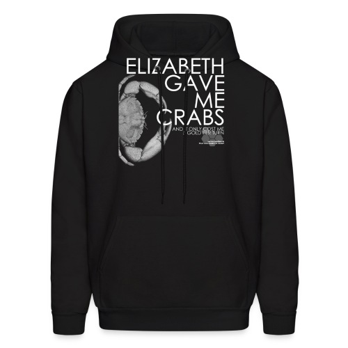 Crabs White Text - Men's Hoodie