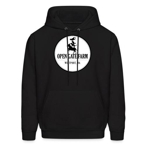 Open Gate Farm • The White Logo - Men's Hoodie