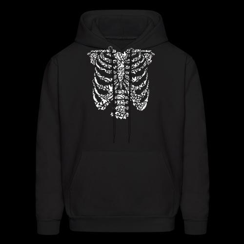 Ribcaged Bird | Halloween Bird Skeleton - Men's Hoodie