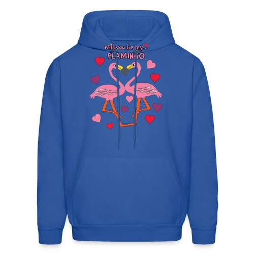 Will You be my Flamingo Valentine Kisses - Men's Hoodie