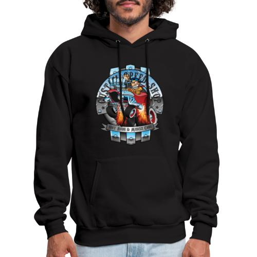 Custom Speed Shop Hot Rods and Muscle Cars Illustr - Men's Hoodie