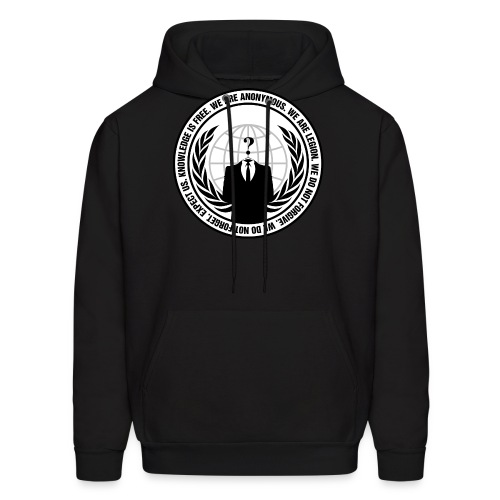Anonymous Logo With Slogan png - Men's Hoodie
