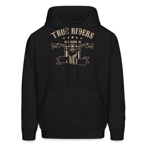 True Riders are born in July - Men's Hoodie
