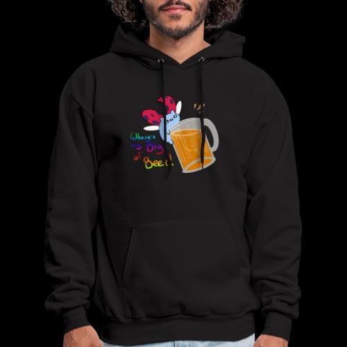 Catbug - Where's my big ol' beer - Men's Hoodie