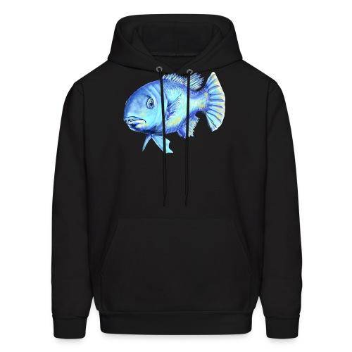 blue fish - Men's Hoodie