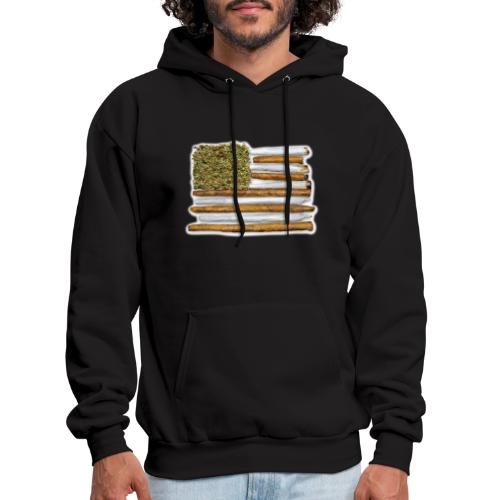 American Flag With Joint - Men's Hoodie