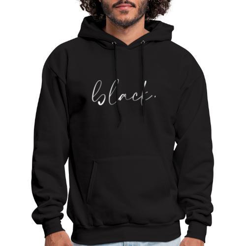 black tee white2 - Men's Hoodie