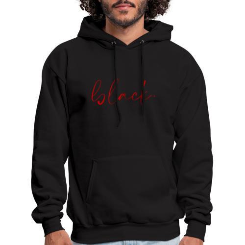 black tee red2 - Men's Hoodie