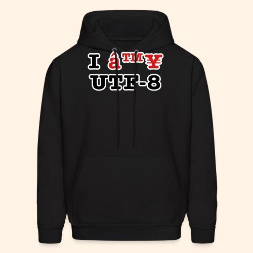 I ♥ UTF-8 - Men's Hoodie