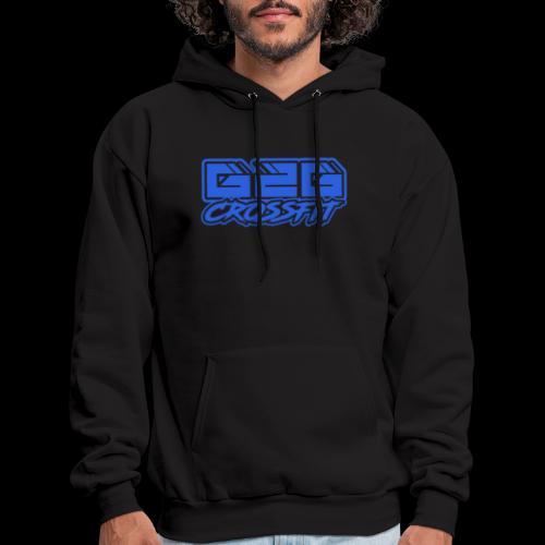 G2G CrossFit Blue Half Logo - Men's Hoodie