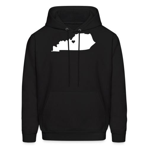Kentucky Silhouette Heart - Men's Hoodie