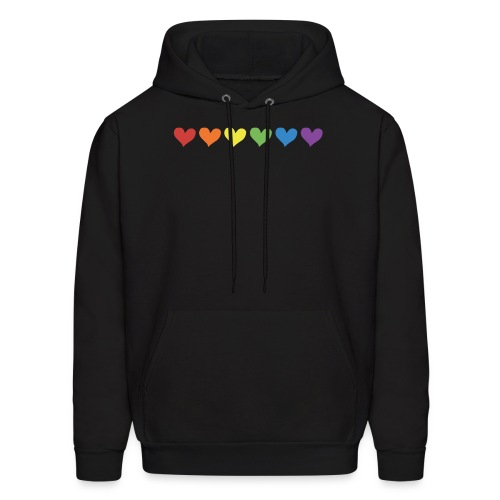 Pride Hearts - Men's Hoodie