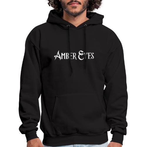 AMBER EYES LOGO IN WHITE - Men's Hoodie