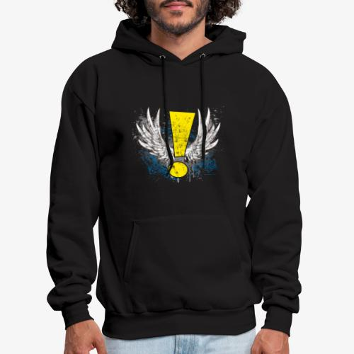 Winged Whee! Exclamation Point - Men's Hoodie