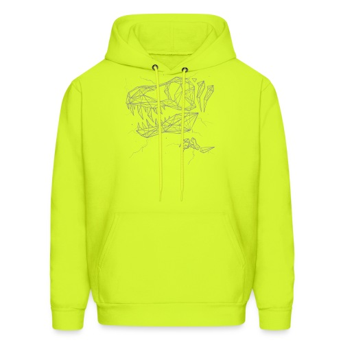Jurassic Polygons by Beanie Draws - Men's Hoodie