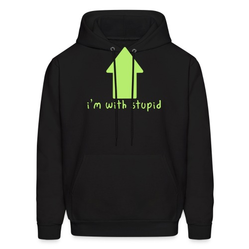 I'm With Stupid - Men's Hoodie