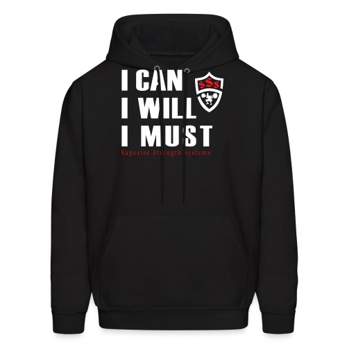 I can I will I must - Men's Hoodie