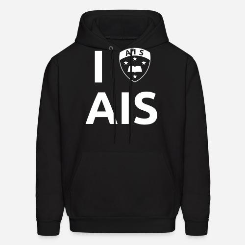 I Crest AIS - WHT - Men's Hoodie