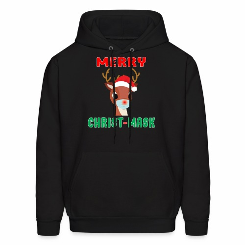 Merry Christmask Rudolph Red Nose Mask Reindeer. - Men's Hoodie