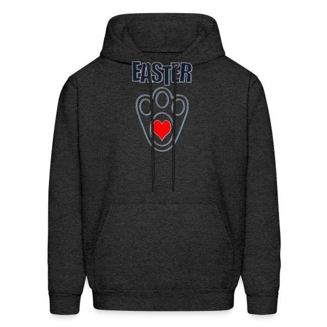 Easter Bunny Footprints, Easter Heart Bunny