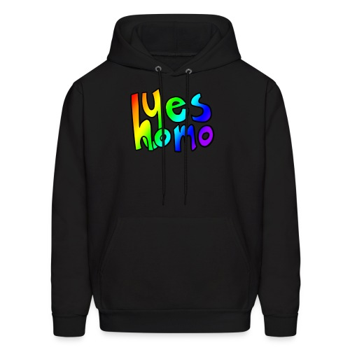Yes Homo (Rainbow) - Men's Hoodie