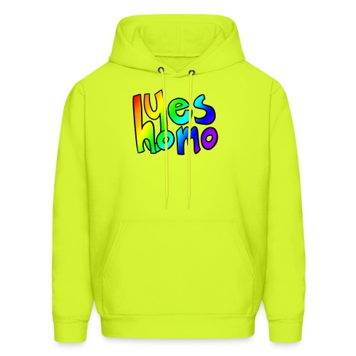 Yes Homo (Rainbow) - Men's Hoodie