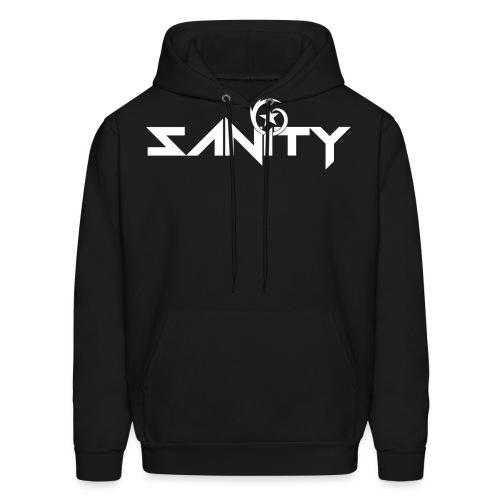 SANiTYClearFONT INVERT png - Men's Hoodie