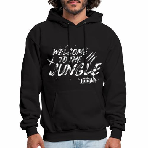 Welcome to the Member Jungle (White) - Men's Hoodie