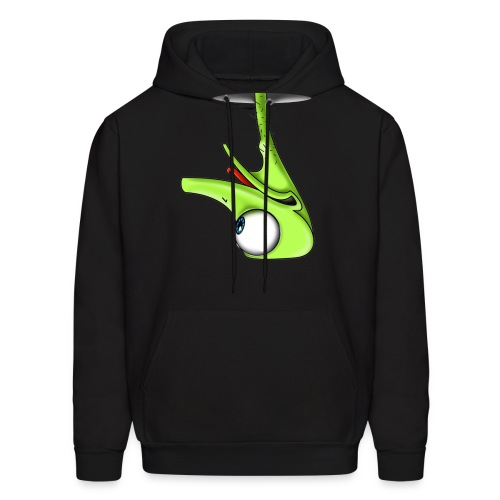 Funny Green Ostrich - Men's Hoodie