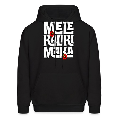 Mele Kalikimaka Hawaiian Christmas Song - Men's Hoodie