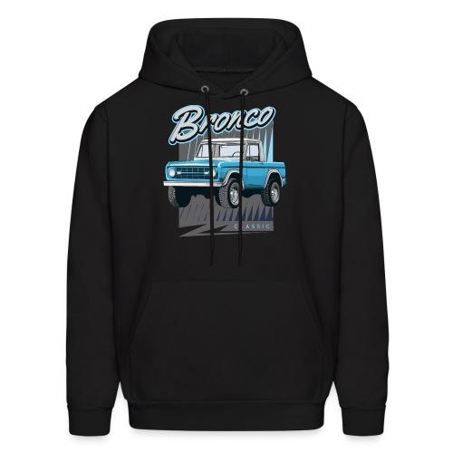 BRONCO Blue Half Cap Truck T-Shirt - Men's Hoodie