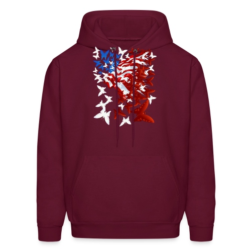 The Butterfly Flag - Men's Hoodie