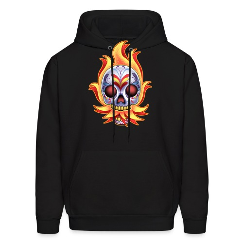 DoD Flame Skull by RollinLow - Men's Hoodie
