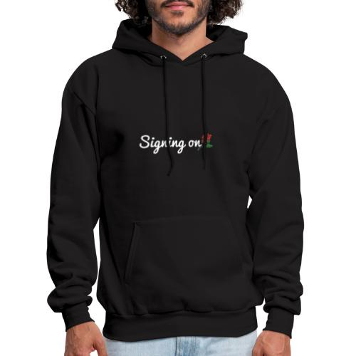 The Classic Signing On Print - Men's Hoodie