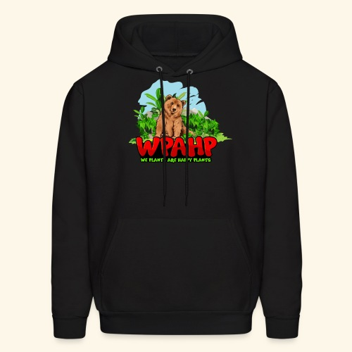 We Plants Are Happy Plants - Bear Logo - Men's Hoodie