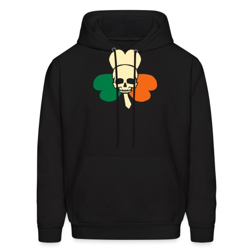 irish_skull_shamrock - Men's Hoodie