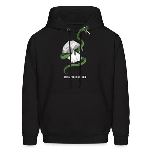 Origami Snake and skull - Men's Hoodie