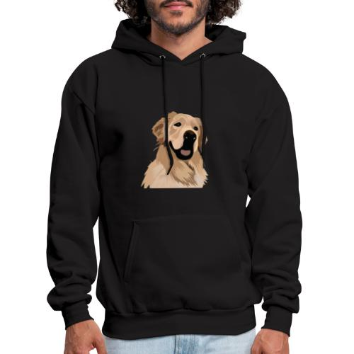 Hand illustrated golden retriever print / goldie - Men's Hoodie