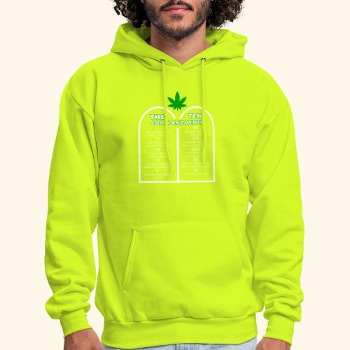 The Ten Commandments of cannabis - Men's Hoodie