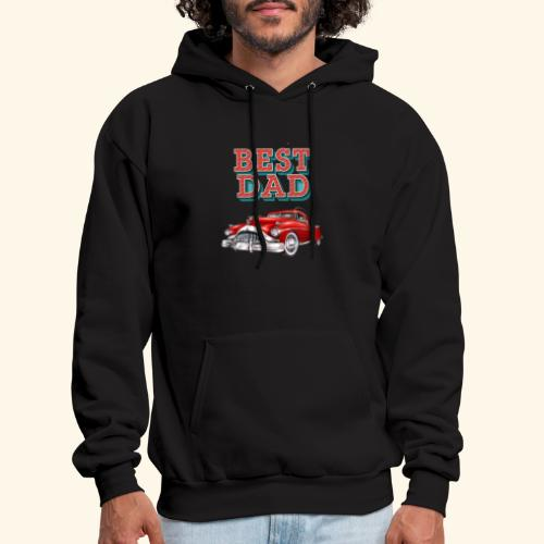 Best Dad Classic Car Design Fathers Day - Men's Hoodie