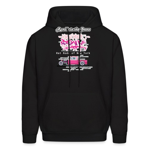 Rumble Bronx Pink Rat Rod 1 - Men's Hoodie