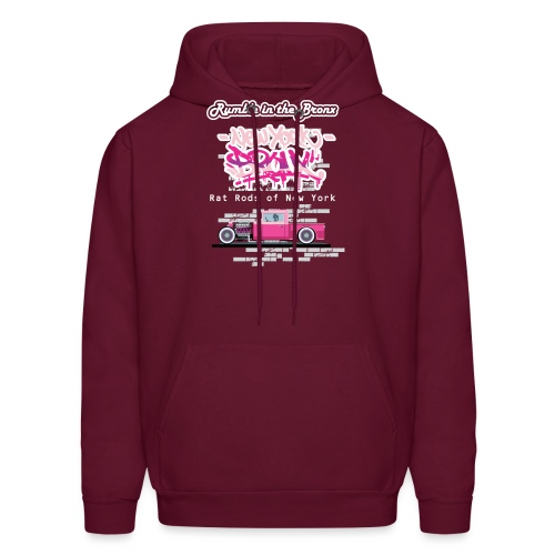Rumble Bronx Pink Rat Rod 1 - Men's Hoodie